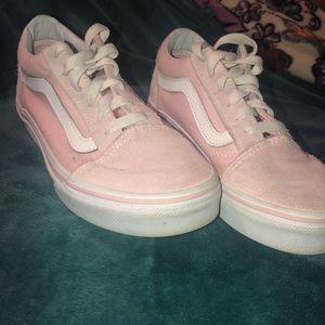 Pink vans size 3 kids